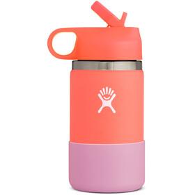 Hydro Flask Wide Mouth Straw Lid Bottle Kids, oranje/roze